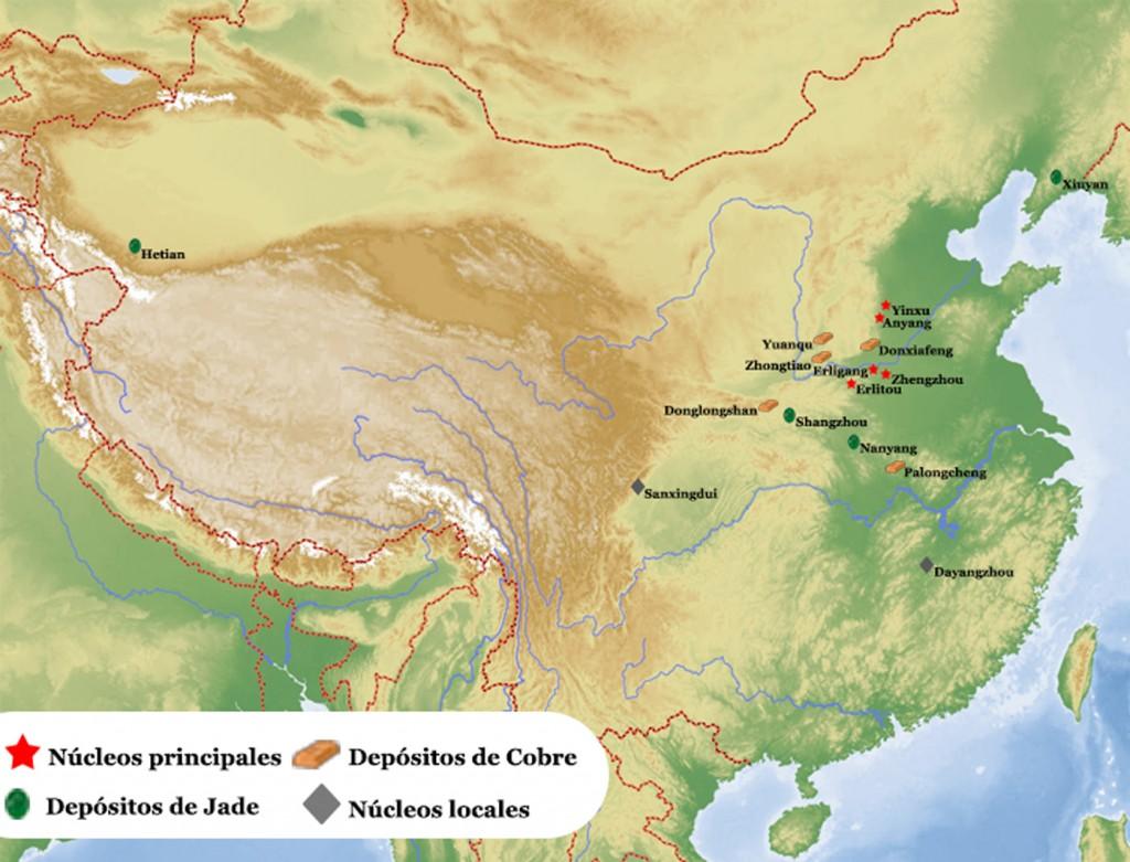 Mapa-Dinastia-Shang-asentamientos