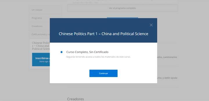 Registro gratis en el curso Política china (Parte 1): China y la Ciencia Política