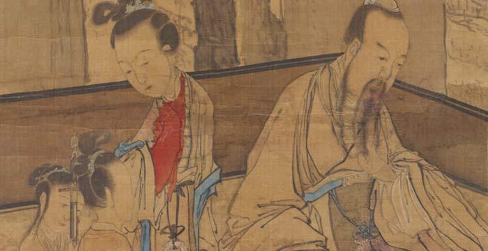 Lu Qian Presents a Sword (1731) (arte chino en SAM)