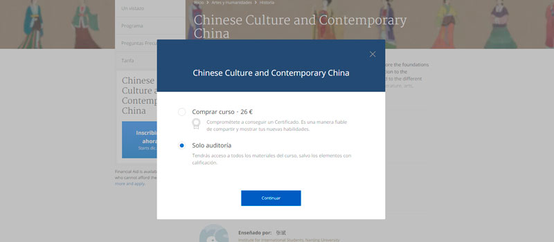 Curso Cultura China y China Contemporánea